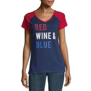 NWT St. John's Bay Womens Short Sleeve T-Shirt  M